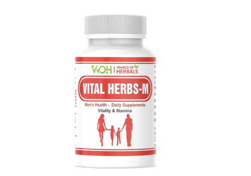 Vital Herbs -M Ayurvedic Medicines for Men Sexual Power. Improves Quality & Quantity of Sperm
